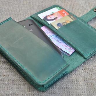 Чехол для мобильного телефона из натуральной кожи ручной работы H01-350