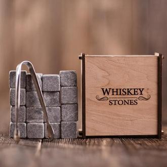 Камені для віскі 16 шт в дерев'яній скриньці