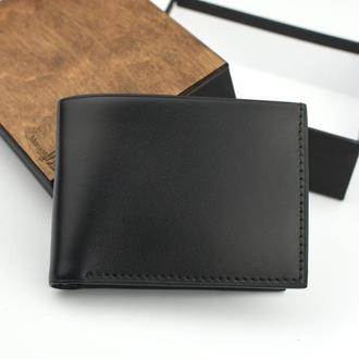 Мужской кожаный кошелек, Кожаный именной кошелек, Подарок мужчине, Кожаное мужское портмоне