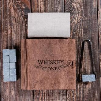 """Подарунковий набір каменів для віскі в скриньці книзі """"Whiskey stones"""""""