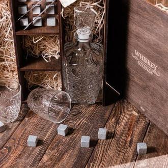 Подарунковий набір віскі з камінням для віскі № 3(місце для віскі)