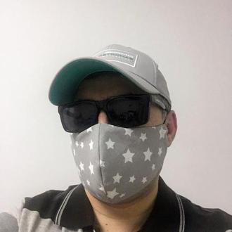 Трехслойная многоразовая маска для лица! стильная! удобная! расцветка на выбор!