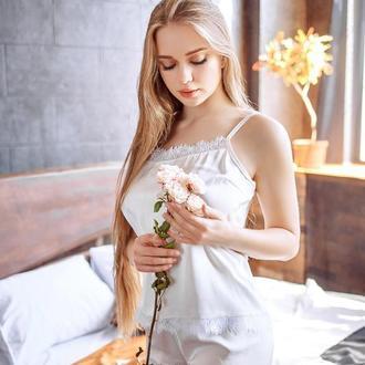 "Пижама с шелка Армани ""Нежный айвори"""