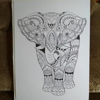 Плакат раскраска большая Слон производитель Kaisercraft Австралия