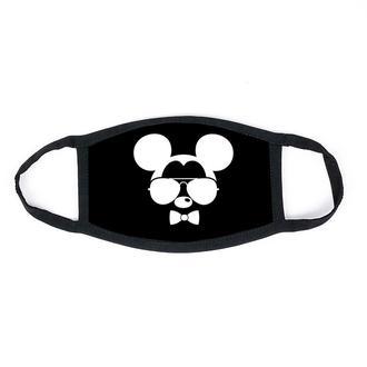 """Детская маска многоразовая (респиратор) защитная с принтом на лицо """"Микки Маус в очках"""""""
