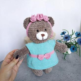 Вязаный мишка. Плюшевый медведь