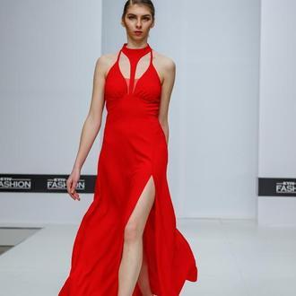 Выпускное платье длинное красное