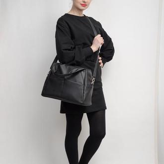 Женская черная большая спортивная сумка