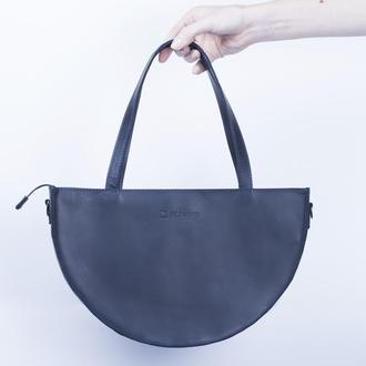 Вечерняя женская сумочка, сделанная из натуральной кожи синий