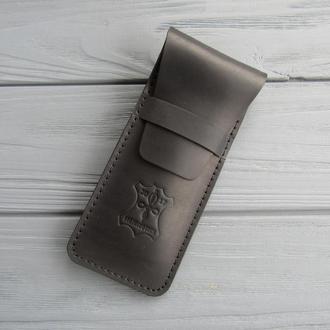 Кожаный пенал для ручек_чехол для ручек