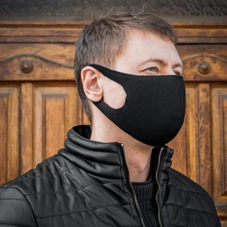 Маска защитная черная, Маска Пита из ткани