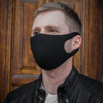 Многоразовая маска от грязного воздуха, Защитная маска черная