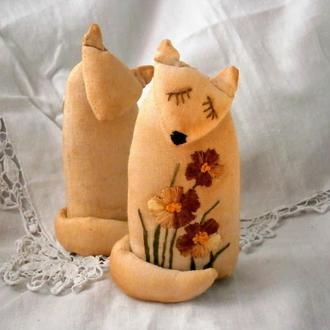 Текстильная игрушка Лисичка