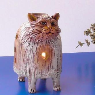 Аромалампа Кот керамическая