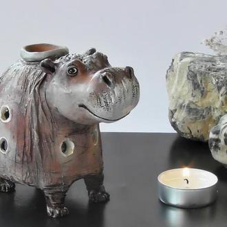Аромалампа бегемот подарок для ароматерапии