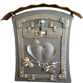 Ящик почтовый Голубки с двойной крышей