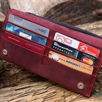 Женский кошелёк из натуральной кожи, гаманець жіночий, портмоне