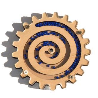 Заготовка Деревянная Шестеренка с Бисером для Бизиборда Спиральные дерев'яні шестерінки бізіборда
