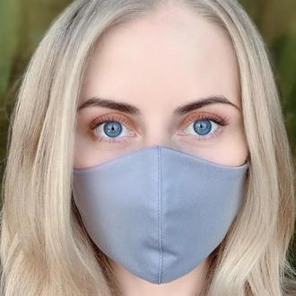 Маска для лица / на лицо многоразовая (трикотаж), Светло-серый