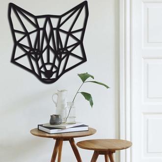 Деревянная геометрическая абстракция для декора стены «Fox»
