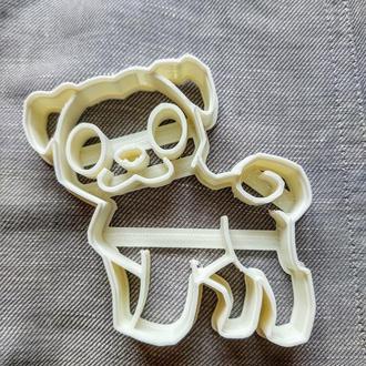 Пресс-форма для печенья(пряника) Мопс , шт, пластик