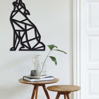 Геометрическая настенная абстракция из дерева «Wolf»