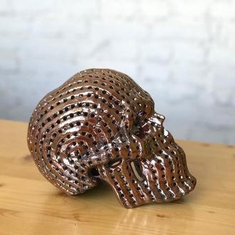Светильник керамический череп