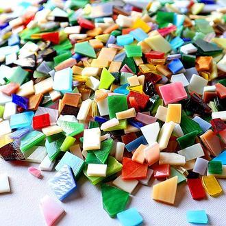 Мозаика из цветного витражного стекла
