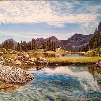 Картина Озеро Федера, північна Італія