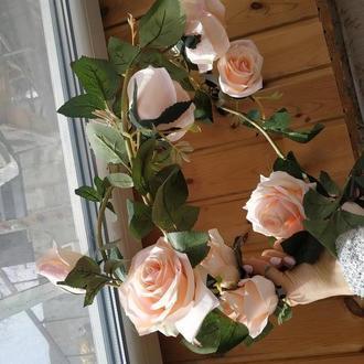 Искусственные декоративные розы, цветы