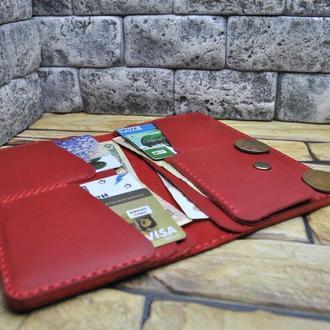 Красный кошелек из кожи K33-580