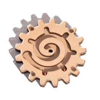 Заготовка Деревянная Шестеренка Спиральная с Шариком для бизиборда деревянные шестеренки бізіборда