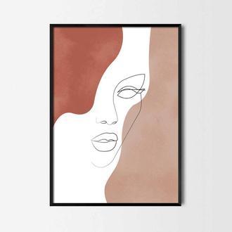 Графический постер Лицо девушки