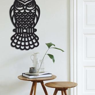 Декоративное панно на стену из дерева «Сова»