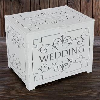 """Свадебный деревянный сундук """"WEDDING"""", арт. SD-00090"""