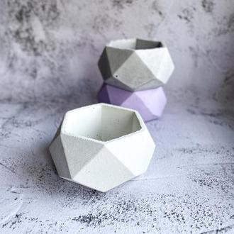 Бетонный горшок для цветов/мха. Кашпо из бетона