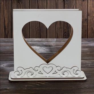 """Рамка-Сосуд """"Сердце с орнаментом"""" для свадебной песочной церемонии, арт. SD-00022"""
