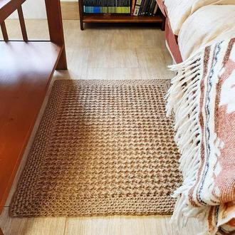 Коврик из джута 60х75 циновка прямоугольная