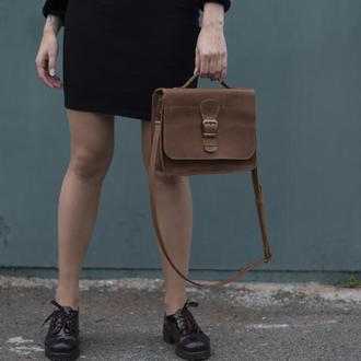 Женская сумка на длинной ручке через плечо
