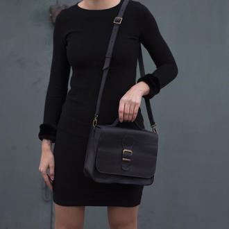 Женская сумка на длинной ручке через плечо синий