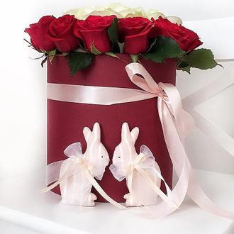 Зефирные Зайки Тильда свадебный декор подарок игрушка пасхальный кролик сувенир