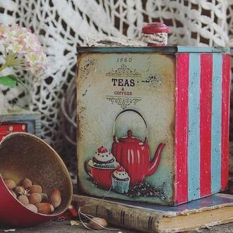 короб для чая, кофе, сыпучих