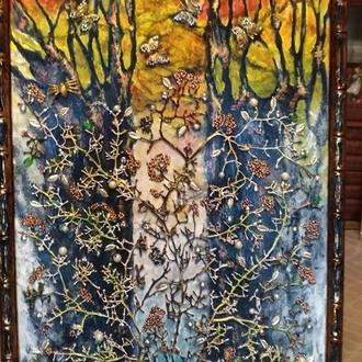 """Об'ємна картина """"Осінній ліс"""""""