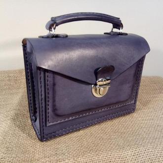 Кожаный портфель - барсетка