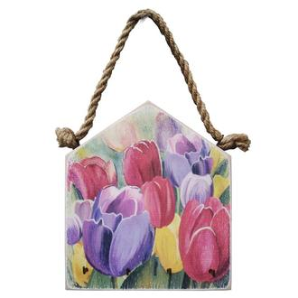 ключница настенная ручной работы тюльпаны