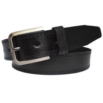 Adeline кожаный женский ремень черный прошитый пояс для джинсов пасок ремінь