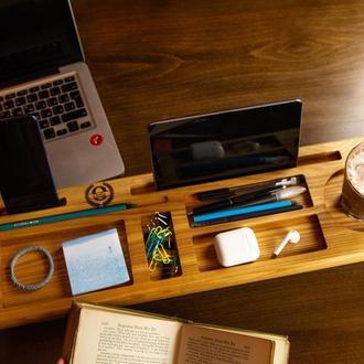 Органайзер на ножках, органайзер в офис, подарок начальнику, подставка для планшета