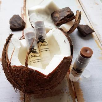 Бальзам для губ «Шоколад и жасмин» & «Кокос и ваниль», 5 гр