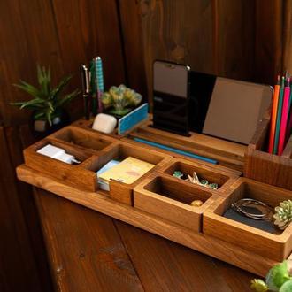 Подарочный набор, деревянный органайзер, подарок мужчине, мужу, начальнику, подарок в офис