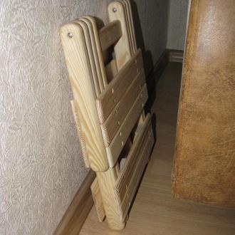 Идея использования раскладного деревянного табурета под электросушилку (для фруктов и овощей)